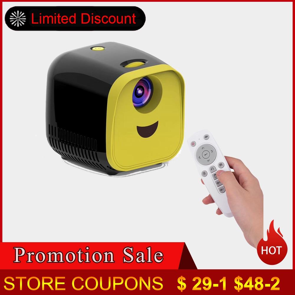 L1 Mini Projektor WIFI USB Kinder Tragbare Projektor 1000 Lumen Micro Video Projektor 480x320p Für Familie für laptop PC TV