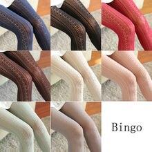 محبوك القطن الصلبة الفتيات الجوارب موضة النساء الشتاء الخريف الدافئة الكروشيه جوارب طويلة 9 ألوان