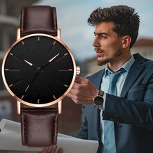 Men Business Stainless Steel Watch 2021 Minimalist Men's Fashion Ultra Thin Watches Simple Mesh Belt
