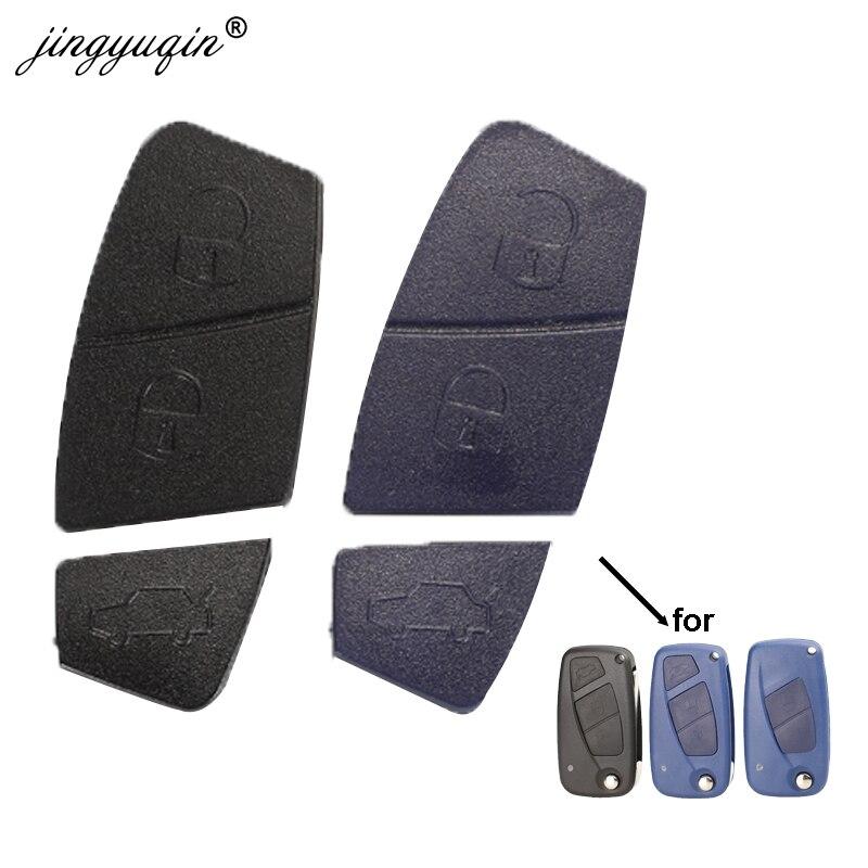Jingyuqin Blau Schwarz Ersatz 2/3 Tasten Auto Remote Key Shell Taste Pad Für Fiat Punto Panda Stilo