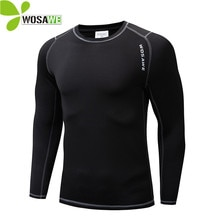 WOSAWE Winter Thermal Fleece Cycling Base Layer Bike Bicycle Clothing Sports Shirts Long Johns Sport