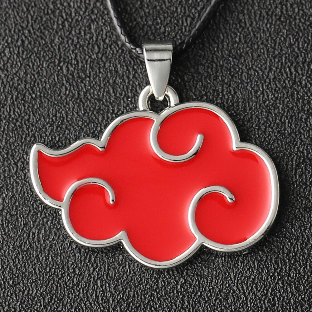 الأحمر سحابة قلادة منظمة Akatsuki قلادة اليابان النينجا موضة جديدة حار أنيمي المينا مجوهرات الرجال النساء تأثيري بالجملة