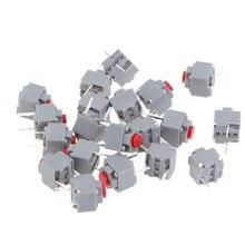 20 pièces bouton muet interrupteur silencieux sans fil filaire souris bouton Micro interrupteur 6*6*7.3