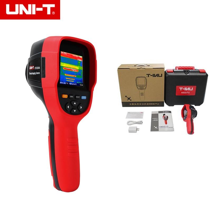 UNI-T UTi220A عالية الوضوح HD الأشعة تحت الحمراء كاميرا تصوير الحرارية الطابق التدفئة كاشف درجة الحرارة التصوير تصوير 300000 بكسل