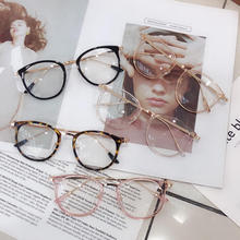 Oversized Round Glasses Frames Women Anti Blue Light Computer Eyewear Men Vintage Clear Optical Eyeg