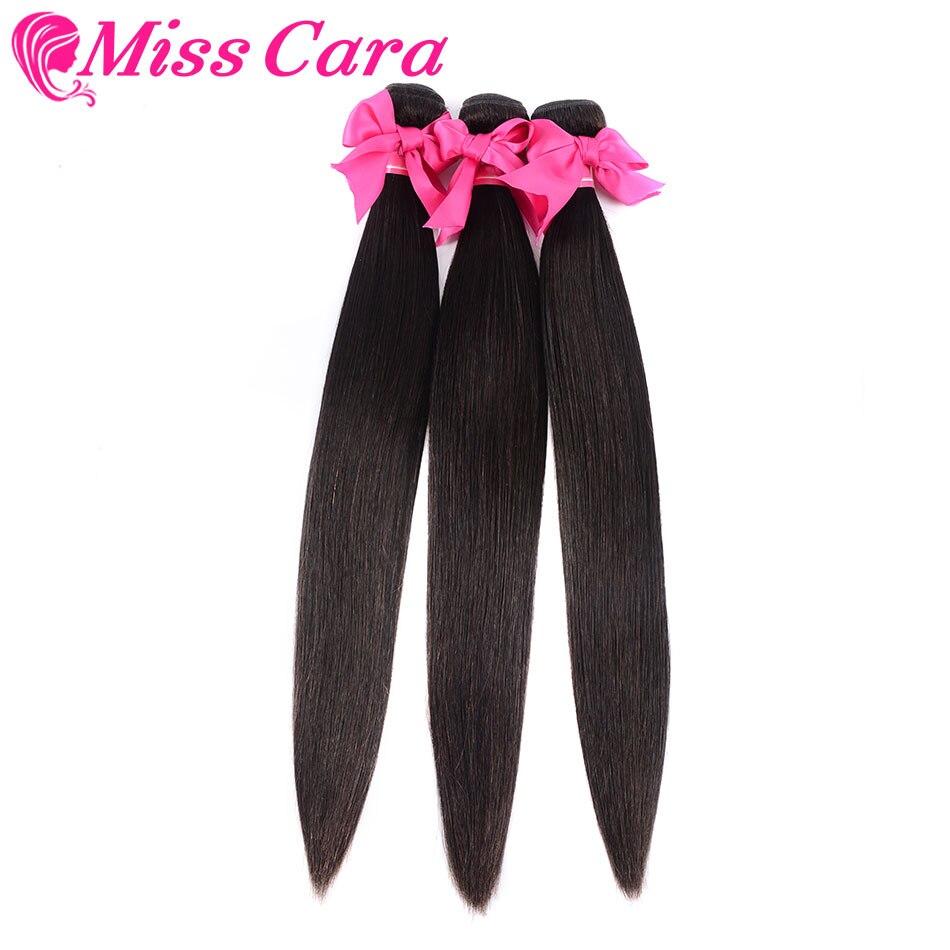 3 paquetes de ofertas cabello humano malasio cabello liso paquetes 100% extensiones de cabello humano Miss Cara Remy cabello tejido