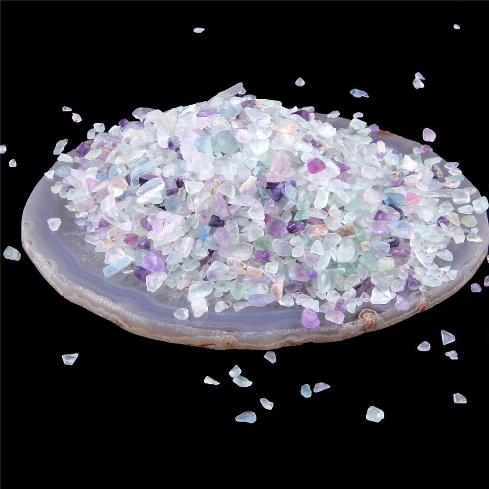Cuentas de fluorita Natural 20G 50G 100G Piedra curativa Irregular sin perforar para la fabricación de joyas, decoración de bonsái para peceras DIY