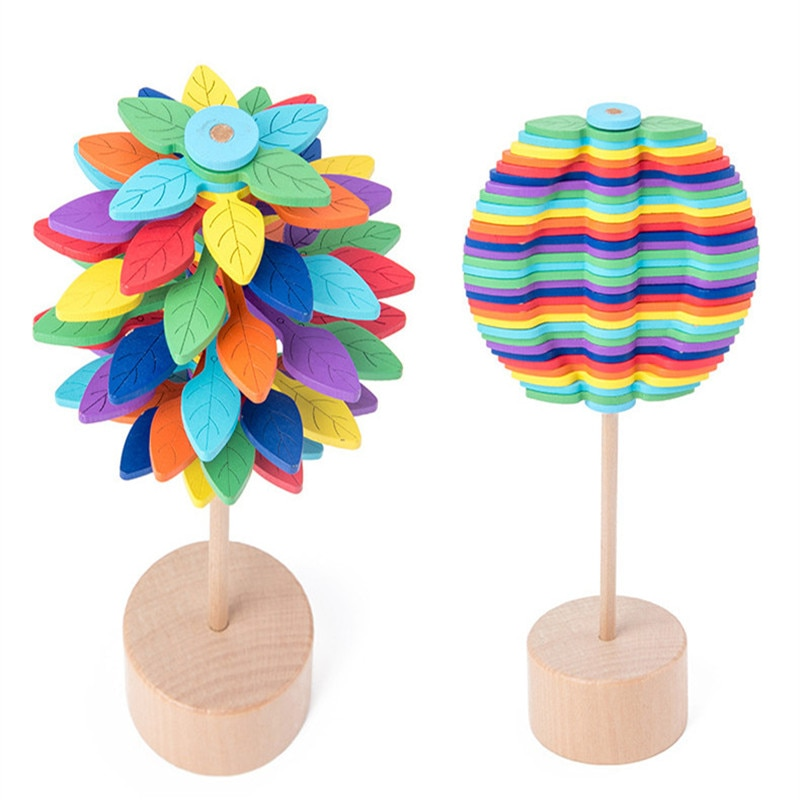 Creative Ornaments Wooden Educational Toys Decorations Rotating Lollipop Toys Office Decompression Adult Children's Toys enlarge