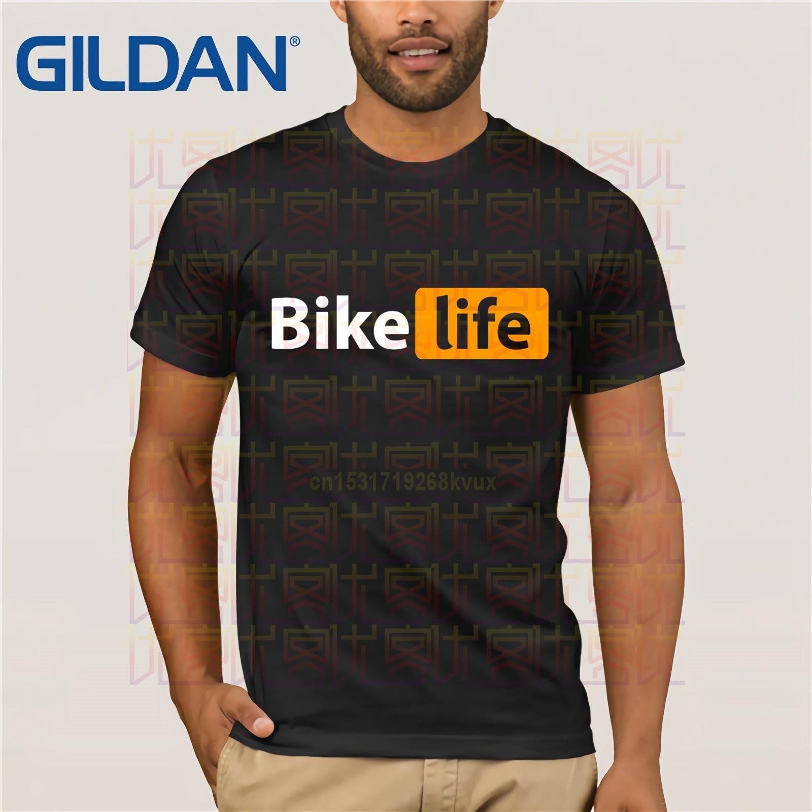 Nuevas camisetas recién llegadas, camiseta con Logo de bicicletas de centro de vida, pantalón corto hecho a medida Hipster para hombres, camisas de manga para adultos