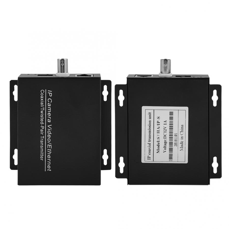 One Pair IP Over Coax Extender EOC Converter Ethernet Over Coax Transmission For IP Cameras enlarge