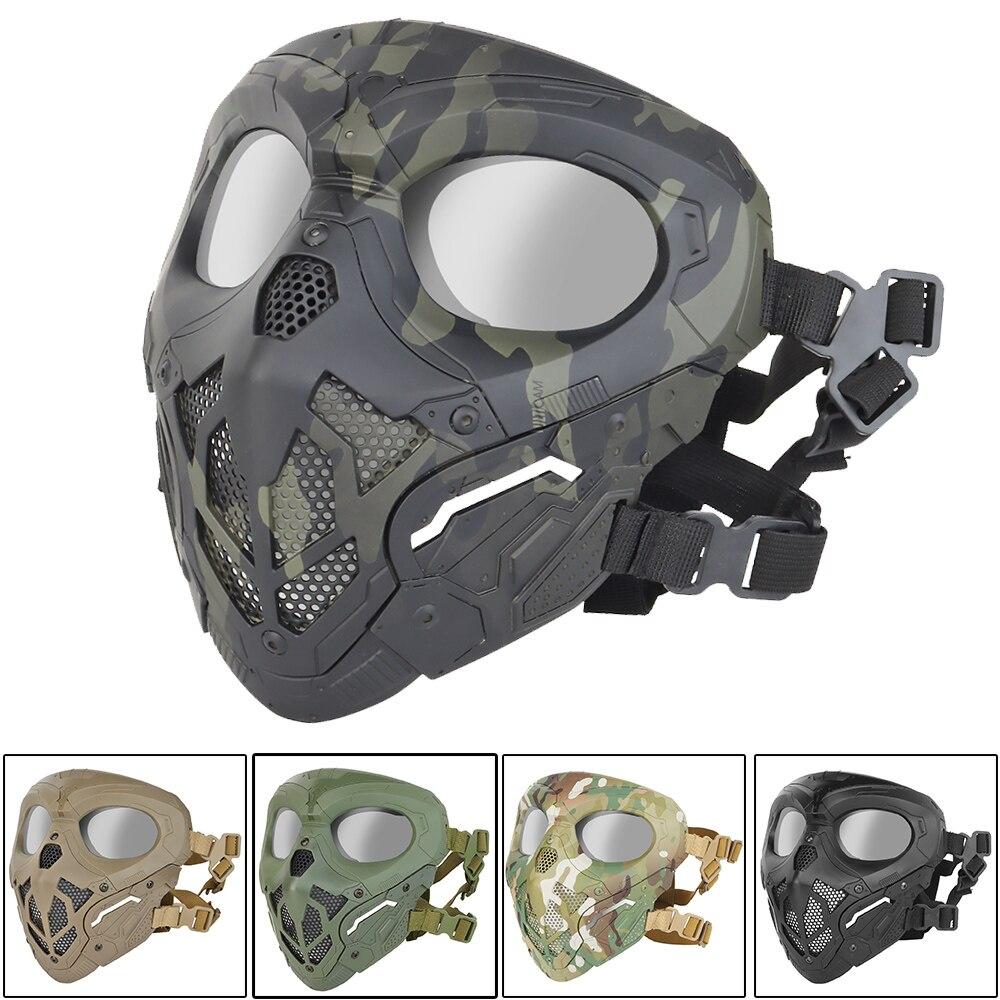 Тактическая Военная маска на все лицо для страйкбола, сталкера, пейнтбола, снаряжение для носа и лица, защитная маска, снаряжение, аксессуар...