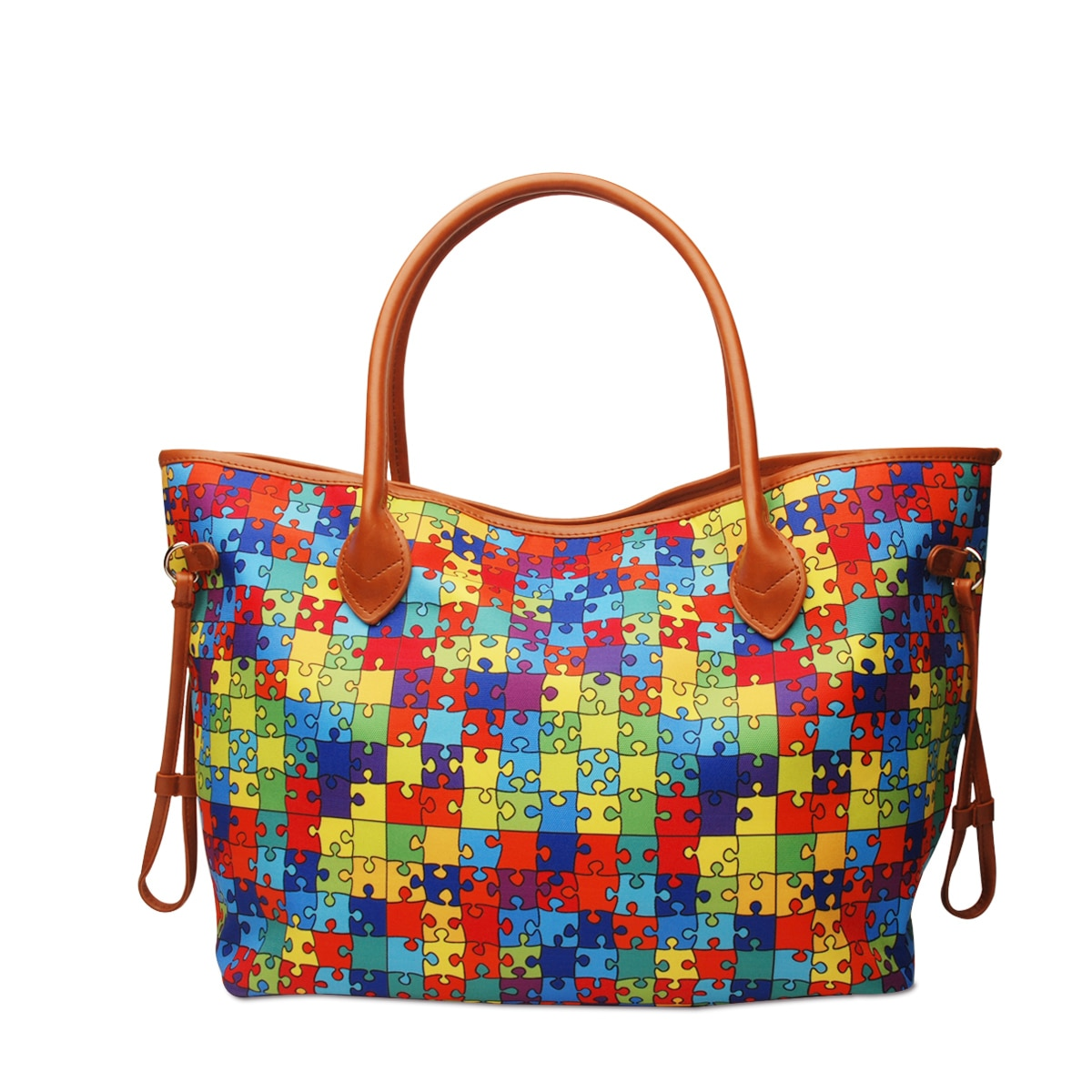 Rainbow Puzzel Tote Bag Personalize Weekend Purse DOM1071851 For Women Travel