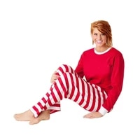 2017 chirstmas pajama sets autumn warm cotton family clothes dad mom kids chirstmas theme home wears redwhite tops striped pant