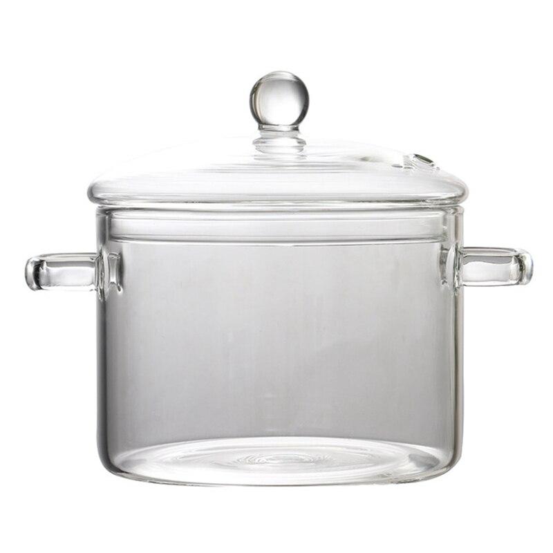 زجاج بوروسيليليك مرتفع سعة كبيرة مقاومة للحرارة العالية المعكرونة الفورية وعاء سلطانية للفاكهة يمكن تسخينها