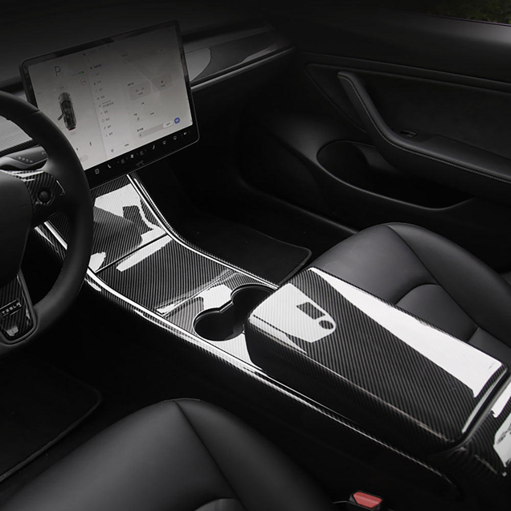 For Tesla Model 3 2017-2020 Model Y Car ABS central control panel protective patch No card slot Style
