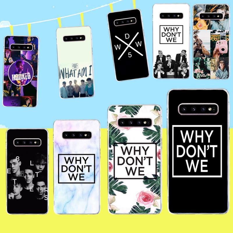 HPCHCJHM Why Dont Do Not We WDW Newly Arrived Black Cell Phone Case for Samsung S9 plus S5 S6 S7 edge S8 S10 plus