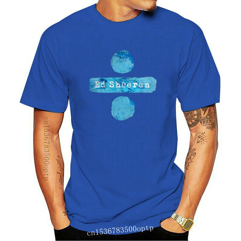 Ed Streetwear Harajuku 100%Cotton MenS Tshirt Sheeran Divide Tshirts