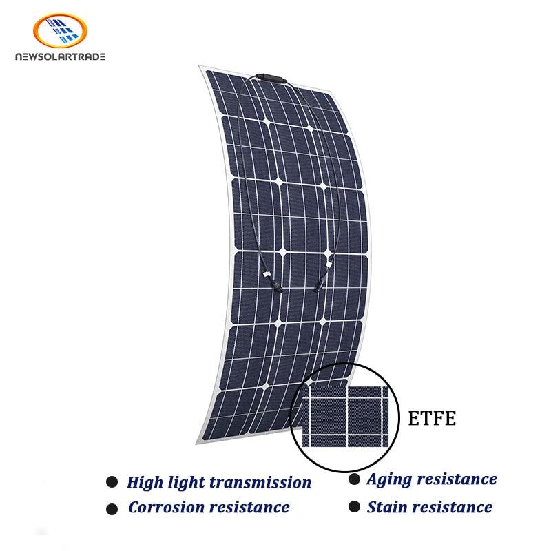 Aikeao عالية الكفاءة 4BB الخلايا الشمسية الكهروضوئية ل 110 واط 18 فولت ETFE شبه مرنة لوحة كهروضوئية
