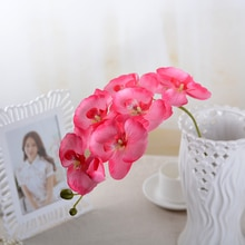 1 Orchid Silk Flower Artificial Moth Orchid Butterfly Orchid for New House Home Wedding Festival Decoration 1 Types 19 Colors