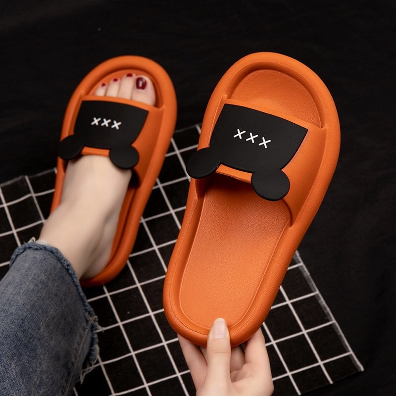 Summer slipper cartoon indoor slippers men and women thick-soled home slippers indoor and outdoor soft-soled sandals slippers