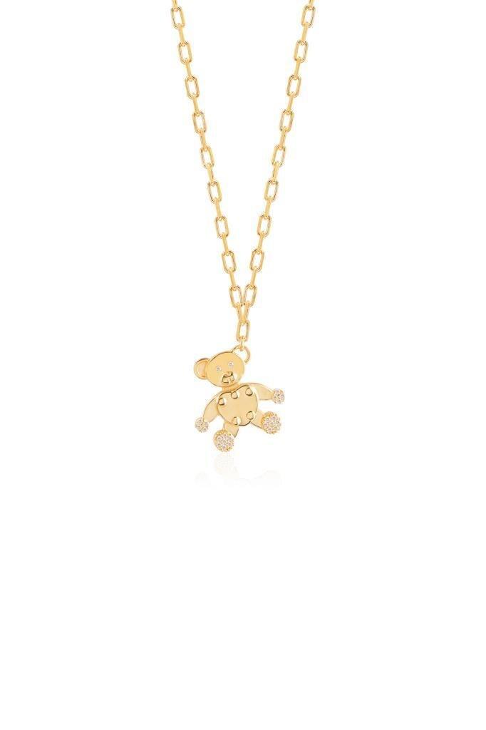 Ожерелье в виде медведя Тедди из белого циркона, отличный подарок для близких и особых случаев, стойкий стильный дизайн