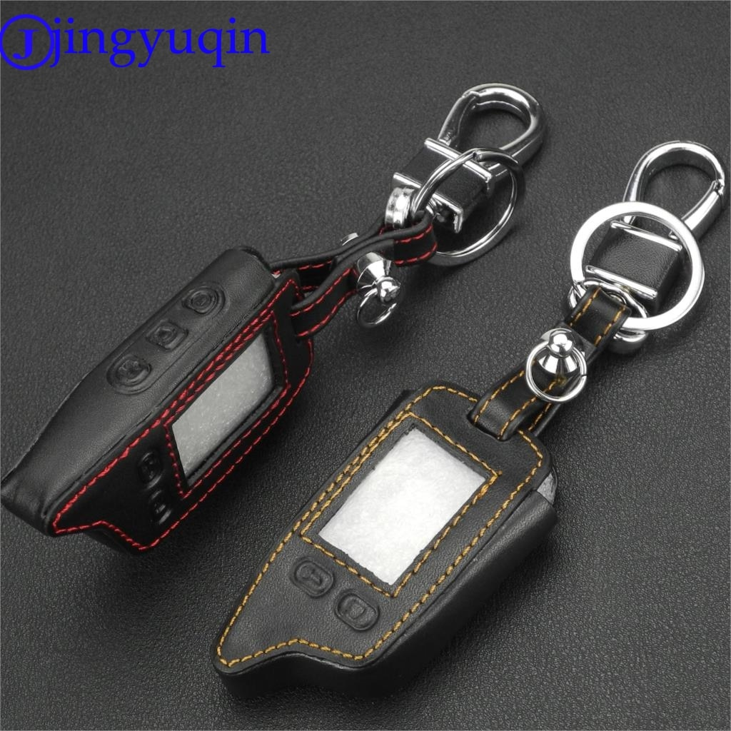 Jingyuqin 5 pçs TW-9010/9020/9030 caso chave de couro para tomahawk tw9010 tw9030 tw9020 lcd controle remoto chave fob tw 9010/9020/9030