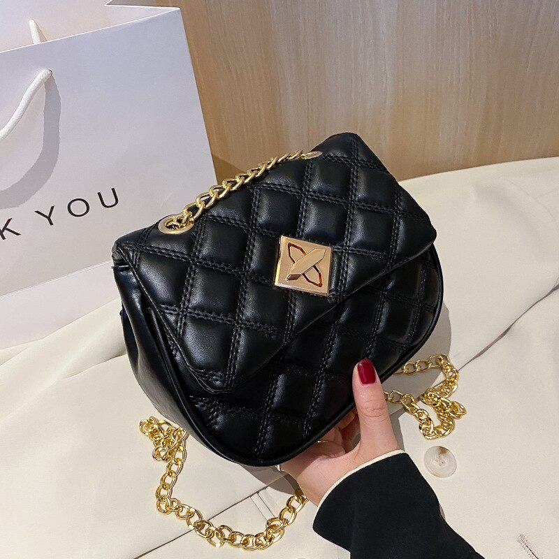 Bolsas de Ombro Das Mulheres Carteiras E Bolsas Designer de 2020 Novos Coreano Moda Cadeia Bonito Pequeno Saco Saco Do Mensageiro Preto E Branco