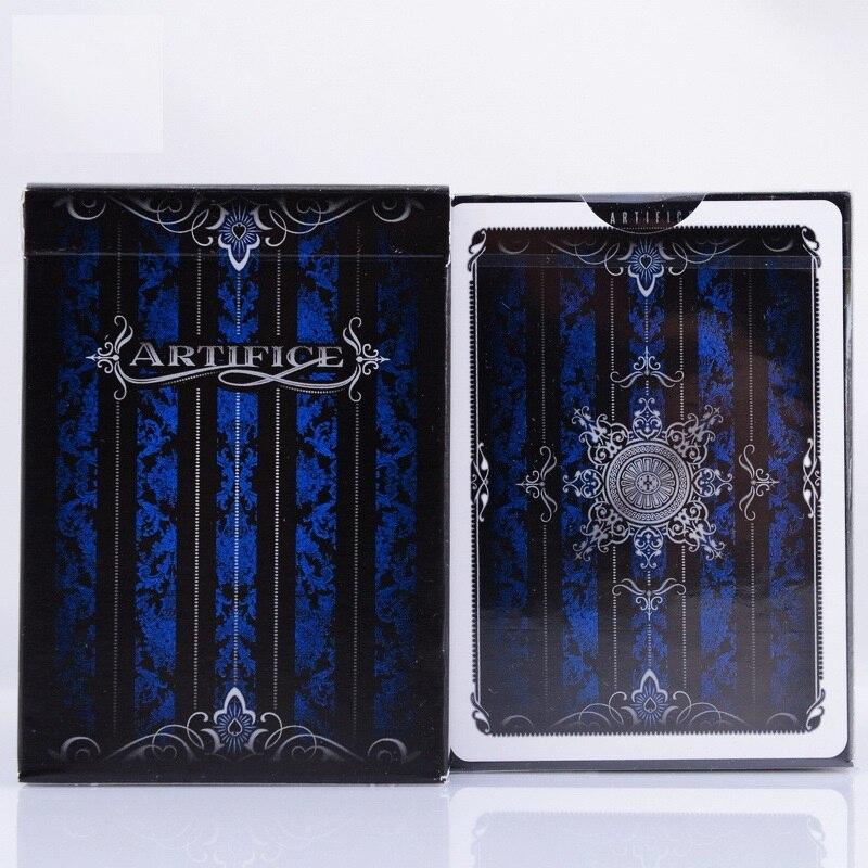 Azul Baralho Ellusionist Artifício v2 Close Up Stage Truques de Mágica Cartas Mágicas de Poker do Cartão de Jogo para o Mágico Profissional