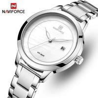 Часы наручные NAVIFORCE женские кварцевые, брендовые Роскошные водонепроницаемые Модные