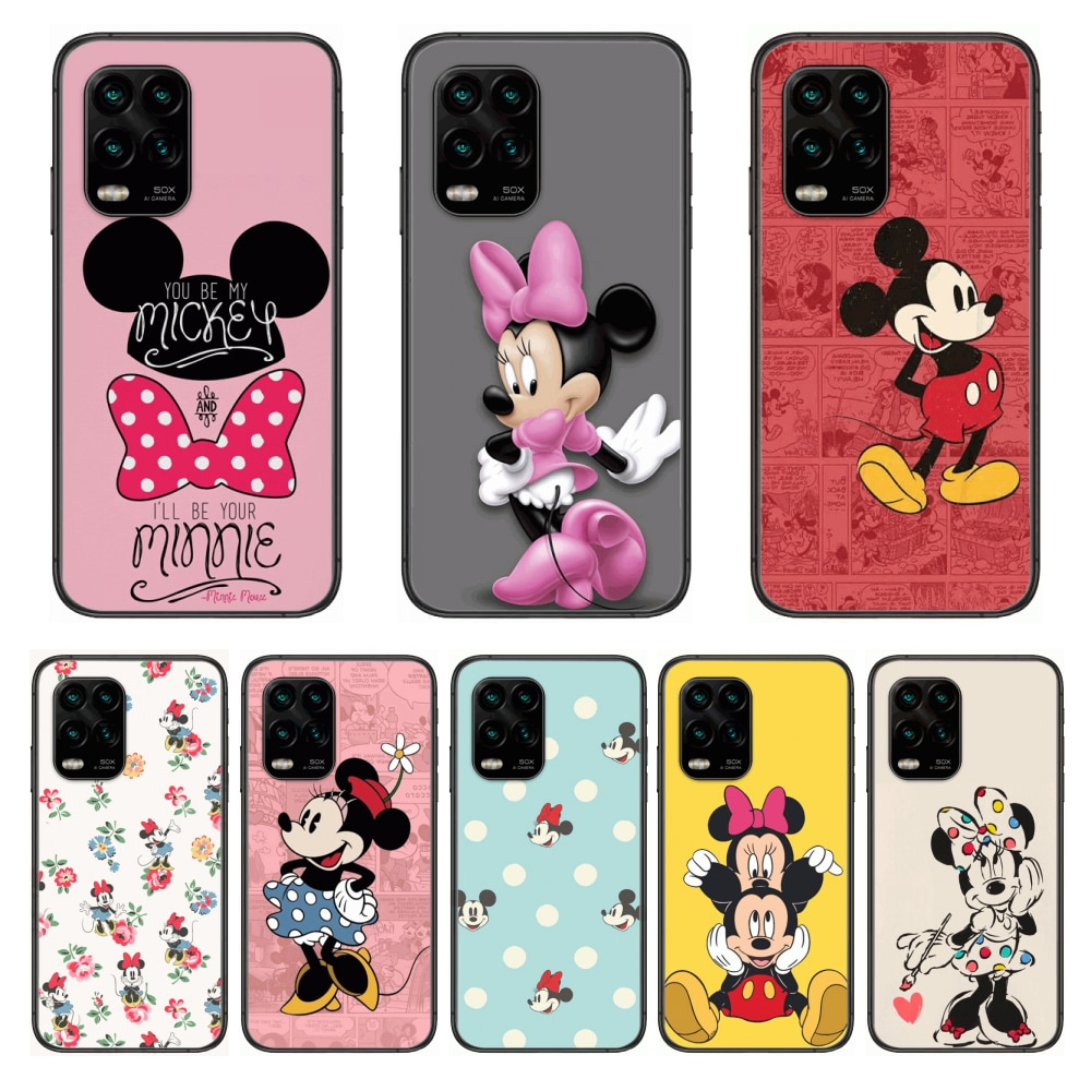 Soft Phone Mobile Case Cute Minnie Micky Mouse Disney Cartoon Phone Case For xiaomi Redmi Note 9S 8