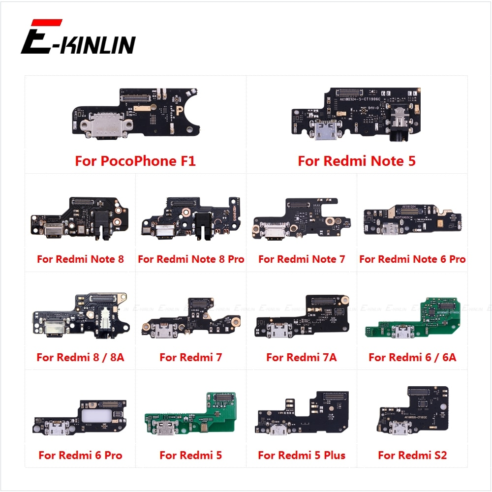 Charging Port Connector Board Parts Flex Cable Microphone Mic For XiaoMi PocoPhone F1 Redmi Note 8 7