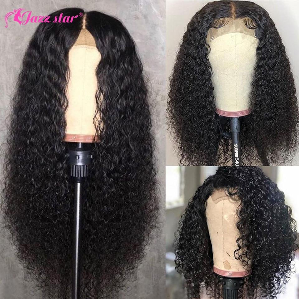 جاز ستار-باروكة شعر مستعار برازيلي طبيعي ، شعر بشري مجعد ، 4 × 4 ، إغلاق دانتيل ، شعر غير ريمي