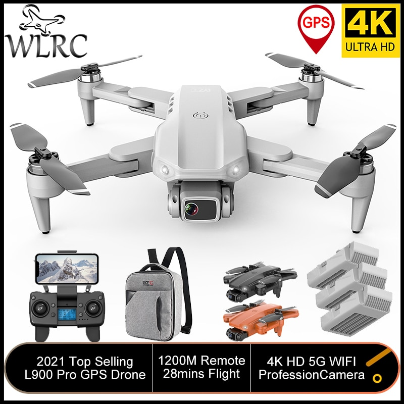 WLRC L900Pro 4K GPS Drones Dual Camera 5G WIFI 28mins Flight Brushless Motor Quadcopter distance 1.2km Professional Dron RC Toys