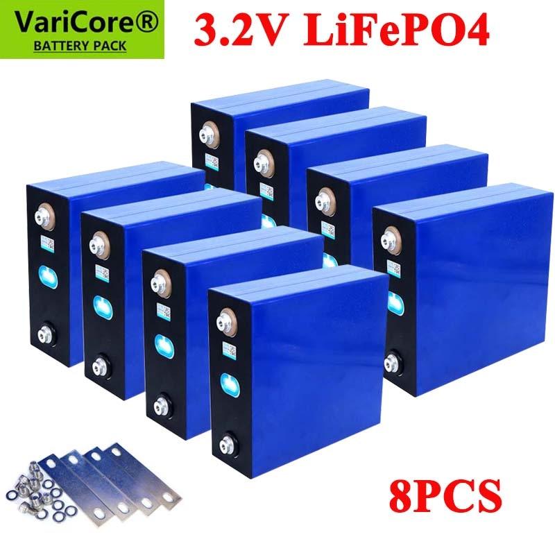 8 قطعة 3.2 فولت 310Ah 280Ah 200Ah Lifepo4 بطارية قابلة للشحن ليثيوم الحديد الفوسفات الخلايا الشمسية 12 فولت 24 فولت Lifepo4 الولايات المتحدة/الاتحاد الأوروبي م...