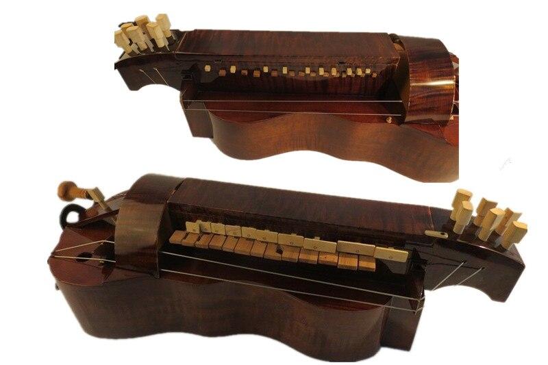 Madera de Arce hecha a mano, 6 cuerdas, 24 llaves, hermosa Hurdy...