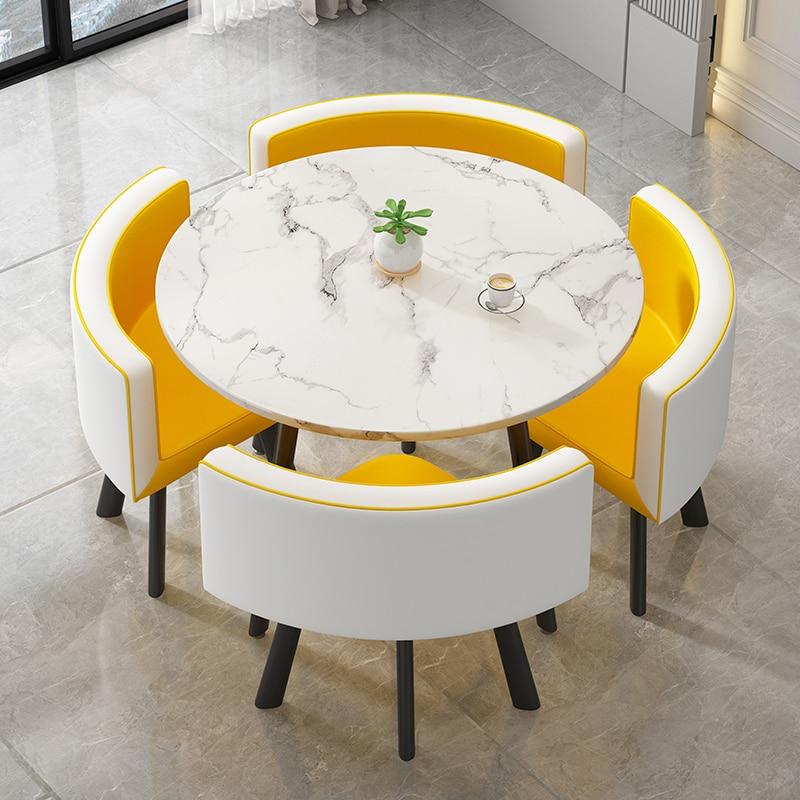 طقم طاولة عشاء 4 كراسي الحد الأدنى الحديثة الاستقبال التفاوض طاولات القهوة أثاث غرفة المعيشة طاولة المطبخ الكراسي