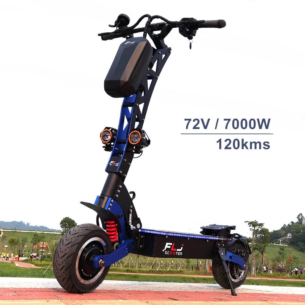 FLJ-patinete eléctrico de 7000W, Scooter con motores duales de 72V, neumático de...