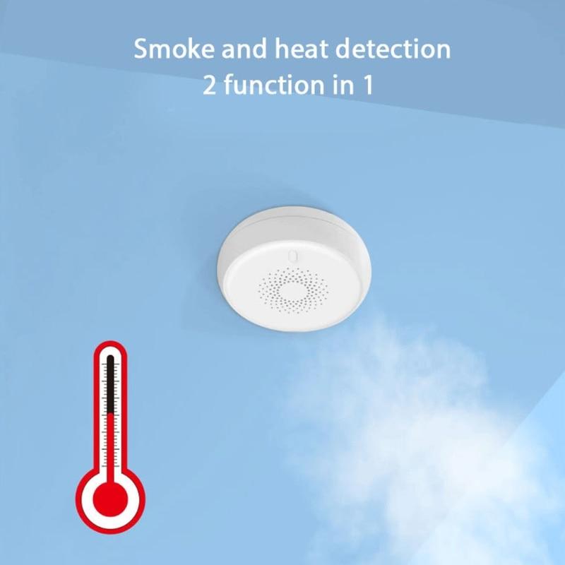 Умный детектор дыма K1KA, система сигнализации с сигнализацией, с датчиком, для домашней безопасности, противопожарное оборудование