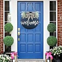 Cintre de porte de bienvenue decoration de porte couronne de porte avant decoration pendentif ornements articles de decoration pour la maison