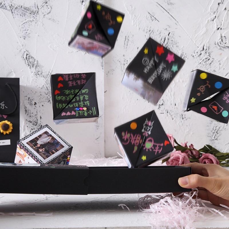NewDIY caja sorpresa álbum de fotos DIY rebotando regalos caja regalo de cumpleaños caja de explosión aniversario álbum de recortes Día de los inocentes