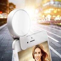 portable mobile phone selfie ring flash lens beauty fill light usb rechargeable clip mobile phone fill lamp women selfie lights
