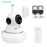 HOMSECUR     camera de securite domestique IP WIFI HD G14 720P  dispositif de securite domestique sans fil  avec Vision nocturne infrarouge et systeme dalarme
