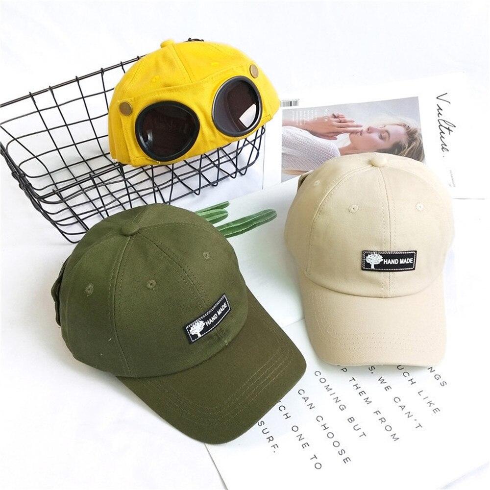 Boys Unisex Baseball Cap Sunglasses Female Personality Hat Summer Personality Trendy Sunglasses Cap