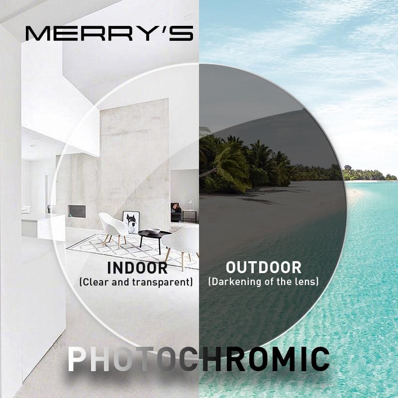MERRYS مكافحة الأزرق ضوء أشعة اللونية سلسلة 1.56 1.61 1.67 وصفة طبية CR-39 الراتنج شبه كروي نظارات عدسات قصر النظر عدسة