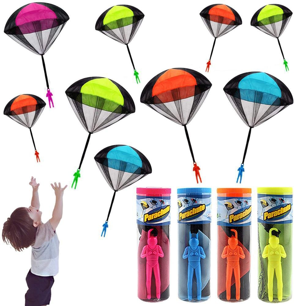 Hand Throwing Parachute Soldiers Toys for Children Outdoor Funny Games Play Educational Toys Fly Par