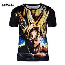 Nouveau été T-shirt Dragon Ball Z Vintage Goku Anime 3D imprimé T-shirt Cool drôle t-shirts à manches courtes t-shirts hommes vêtements