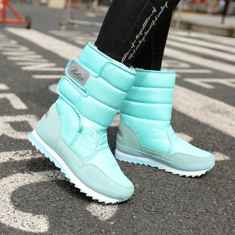 Fast delivery women boots 2021 warm platform shoes woman waterproof winter boots women velvet snow boot ladies shoe