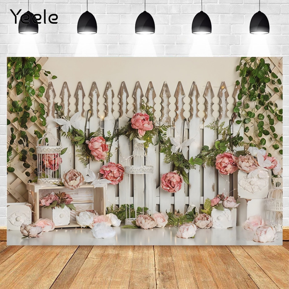 flower deer wedding background stand marriage party custom vinyl photography backdrops for photo studio photographic photocall Yeele Spring Flower Baby Room Birthday Party Princess Photography Backdrops Background Photo Studio Vinyl Photophone Photocall