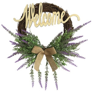 Artificial Romantic Lavender Garland Home Wedding Party Hanging Decor for Valentine's Day Christmas Wall Window Decorations