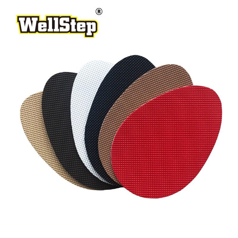 WELLSTEP 1 пара нескользящая подошва для женщин и мужчин ремонт обуви Уход за пяткой протектор Нескользящая подушка самоклеющаяся наклейка